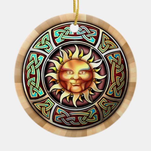 Knotwork Sun Pendant/Ornament