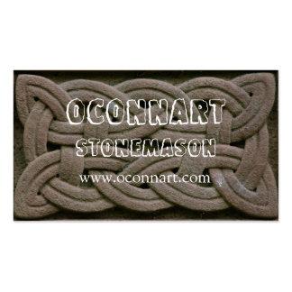 Knotwork tallado Celtic Tarjetas De Negocios