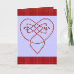Knotwork Valentine Holiday Card