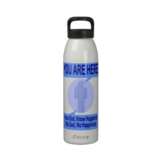 Know God Know Happiness Drinking Bottle