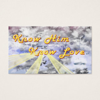 Know Him Know Love Business Card
