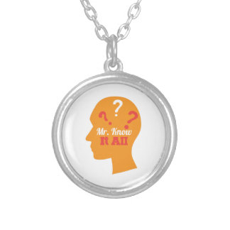 Know It All Round Pendant Necklace