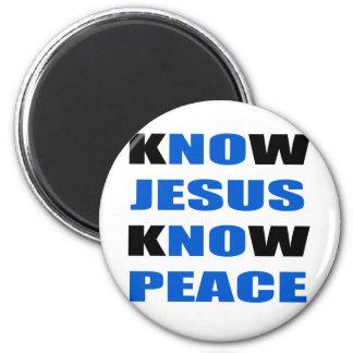 kNOw Jesus kNOw Peace 2 Inch Round Magnet