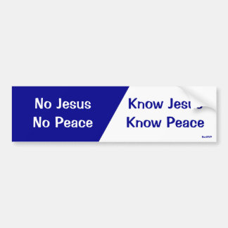 Know Jesus, Know Peace Bumper Sticker