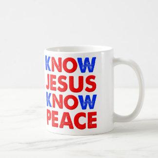 Know Jesus Know Peace Christian Mug