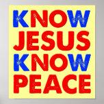 Know Jesus Know Peace Christian Poster