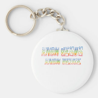 Know Jesus, Know Peace Keychain
