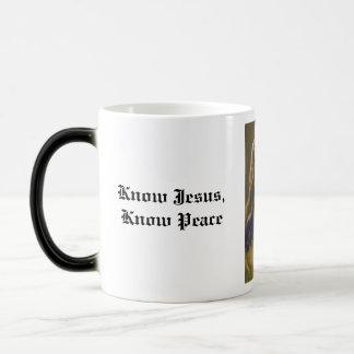 Know Jesus, Know Peace Magic Mug
