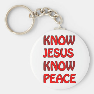 Know Jesus Know Peace No Jesus No Peace In A Red Keychain