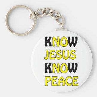 Know Jesus Know Peace No Jesus No Peace In A Yello Keychain
