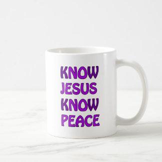 Know Jesus Know Peace No Jesus No Peace In Purple Coffee Mug