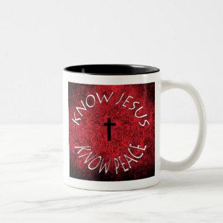 Know Jesus Two-Tone Coffee Mug