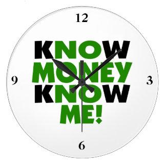 Know Money Know Me Clock