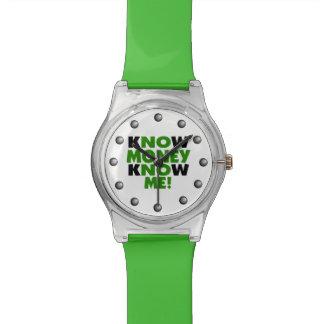 Know Money Know Me Wrist Watch