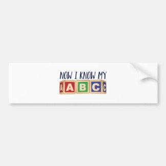 Know My ABC Bumper Sticker