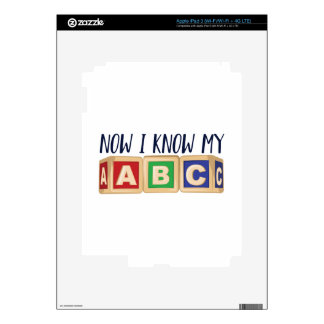 Know My ABC Decals For iPad 3