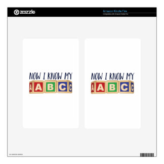 Know My ABC Decals For Kindle Fire