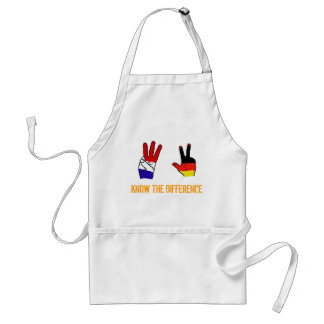 KNOW THE DIFFERENCE ADULT APRON