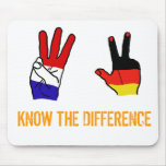 KNOW THE DIFFERENCE MOUSE PAD