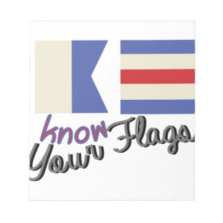 Know The Flags Notepad