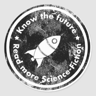 Know the Future - READ more Science fiction Classic Round Sticker