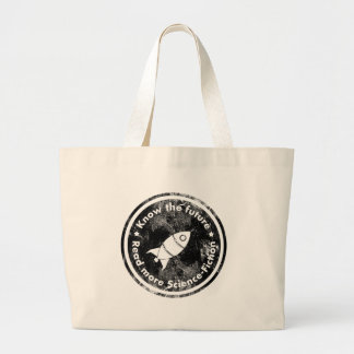 Know the Future - READ more Science fiction Large Tote Bag