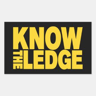 KNOW THE LEDGE RECTANGULAR STICKER