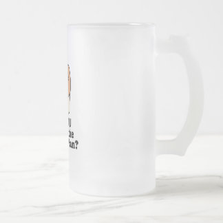 know the muffin man 16 oz frosted glass beer mug