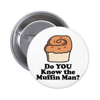 know the muffin man 2 inch round button