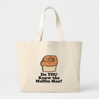 know the muffin man jumbo tote bag
