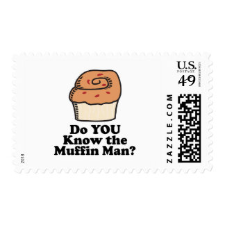 know the muffin man postage stamp