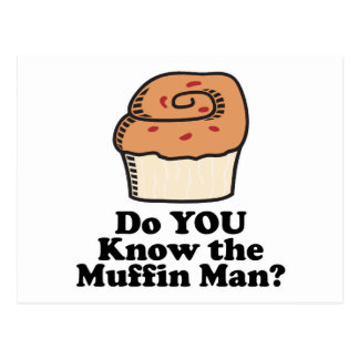 know the muffin man postcard