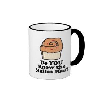 know the muffin man ringer coffee mug