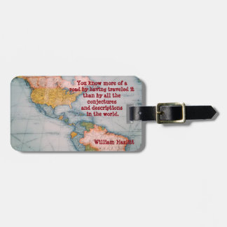 know the road -- luggage tag
