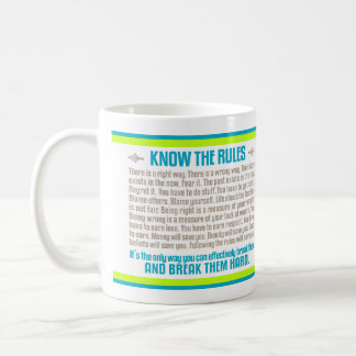 Know the Rules (Lime and Blue) Mugs