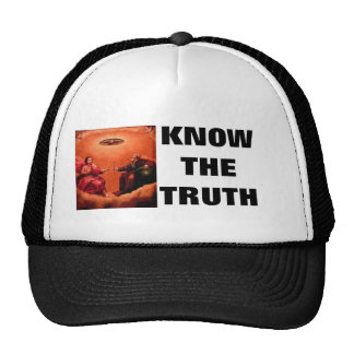 Know the truth truckers hat with Jesus and God
