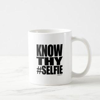 KNOW THY SELFIE CLASSIC WHITE COFFEE MUG