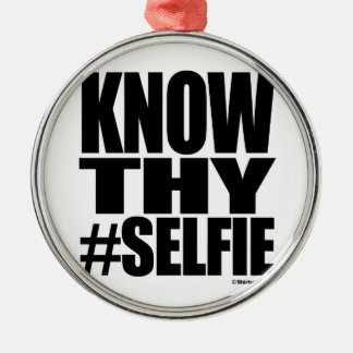 KNOW THY SELFIE CHRISTMAS ORNAMENTS
