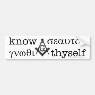 Know Thyself Bumper Sticker Car Bumper Sticker