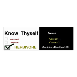Know Thyself Double-Sided Mini Business Cards (Pack Of 20)