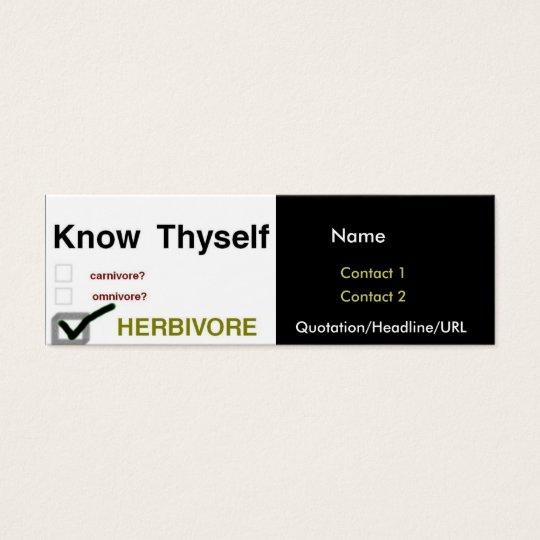 Know Thyself Mini Business Card