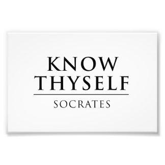 Know Thyself - Socrates Photo Print