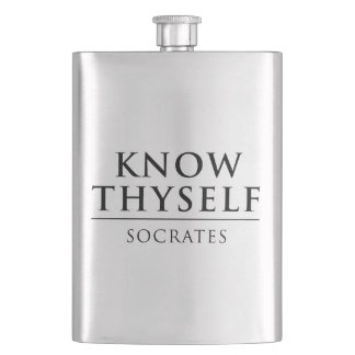 Know Thyself - Socrates Hip Flask