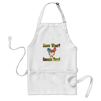 Know What?  Chicken Butt! Adult Apron