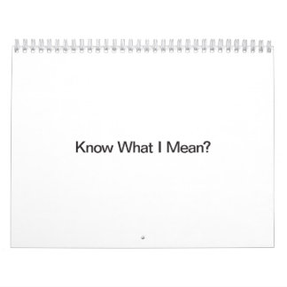 Know What I Mean Wall Calendars