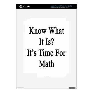 Know What It Is It's Time For Math iPad 3 Skin