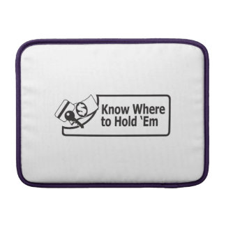 Know Where To Hold Em Macbook Air MacBook Sleeves