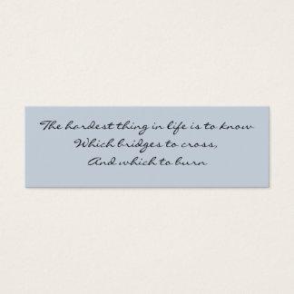 Know Which Bridge Mini Business Card