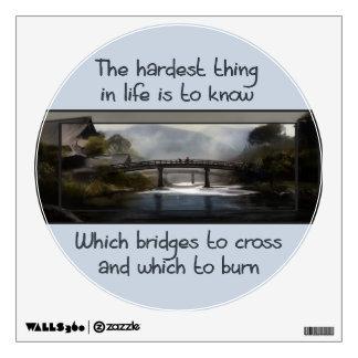 Know Which Bridge Wall Sticker