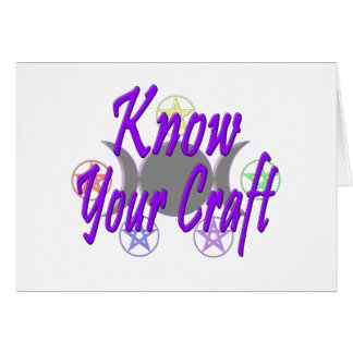 Know Your Craft Card